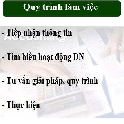 Quy trình làm việc dịch vụ kế toán
