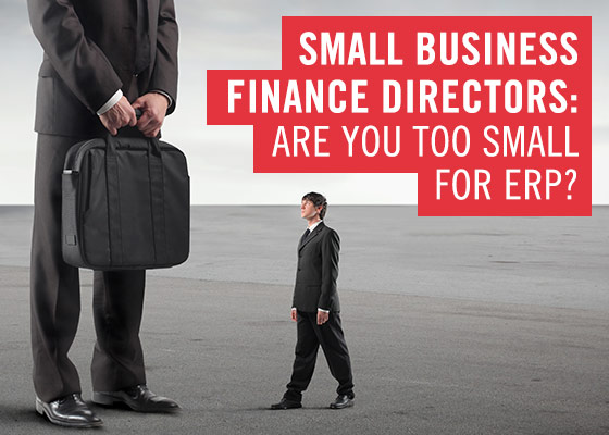 Giám đốc tài chính doanh nghiệp nhỏ là bạn quá nhỏ cho hệ thống ERP
